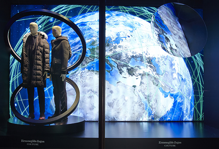 Ermenegildo Zegna Hi-tech Fall Window Displays at Harrods