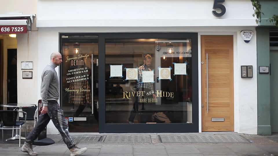 Hiut Denim Co Interactive Window Display by Knit