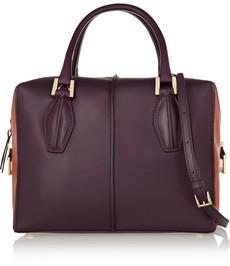 TOD'S Handbag Leather Bauletto D-Cube Medium