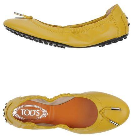 TOD'S Yellow ballerinas