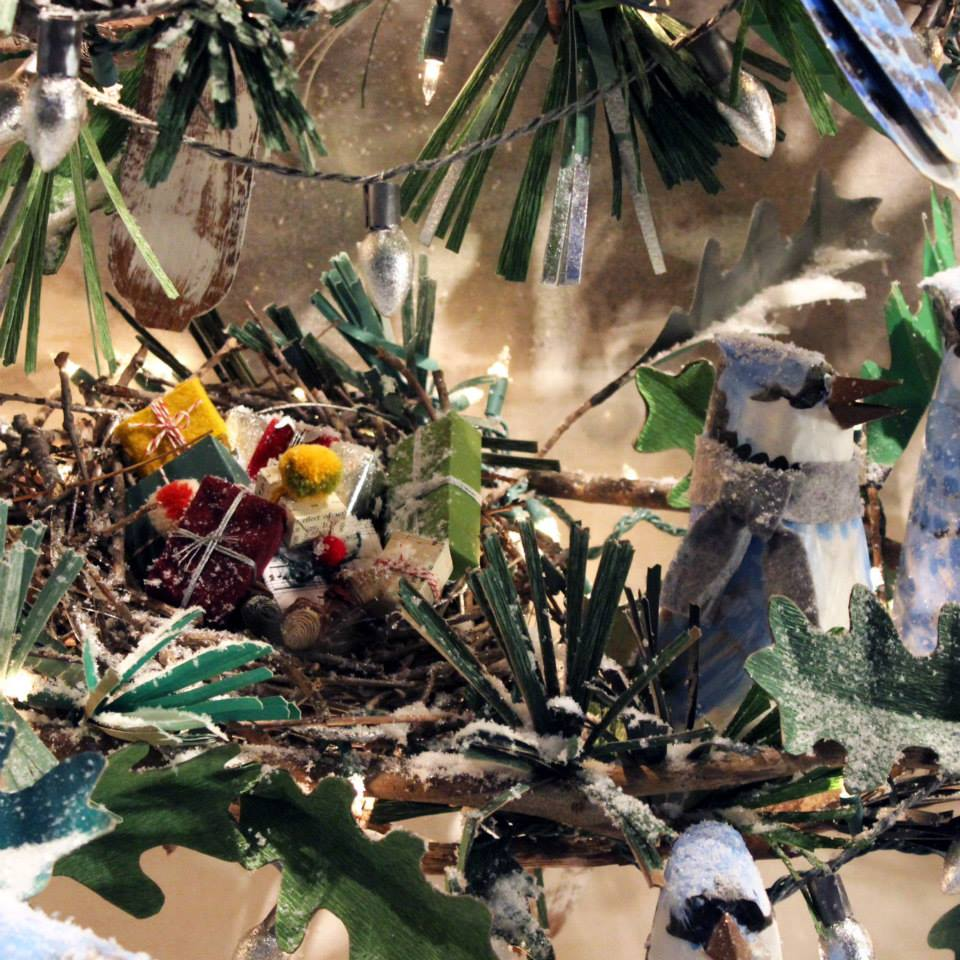 Anthropologie 'Birdies' Holiday Window Display 2014