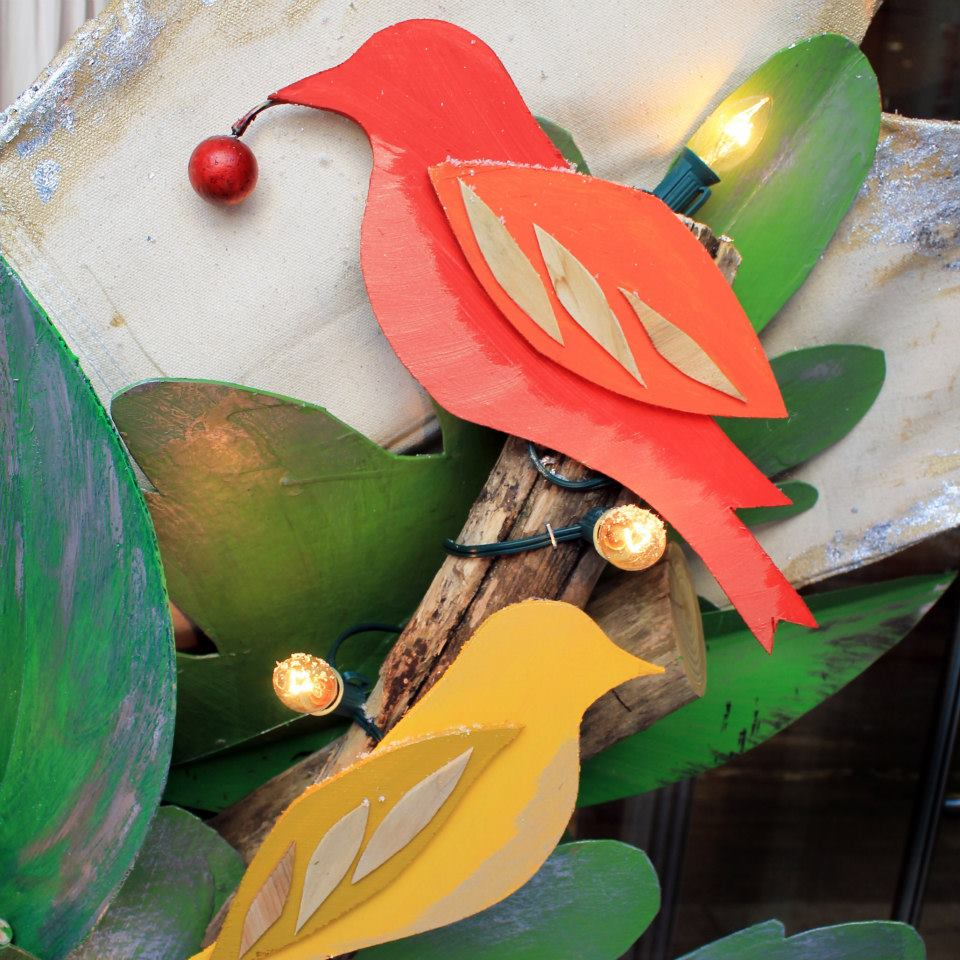 Anthropologie 'Birdies' Holiday Window Display 2014