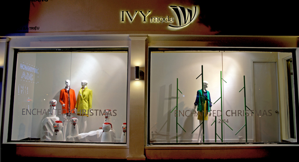 IVY MODA Christmas Window Displays 2014 by PhamQuangDuc Architecture Interior