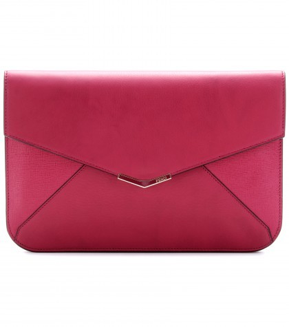FENDI Leather Envelope Clutch