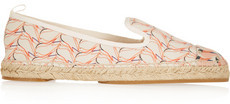 FENDI Canvas Printed Leather Espadrilles