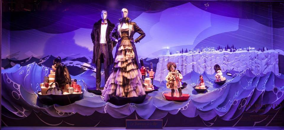 Burberry 'Voyage Magique' Christmas Window Displays 2014 at Printemps