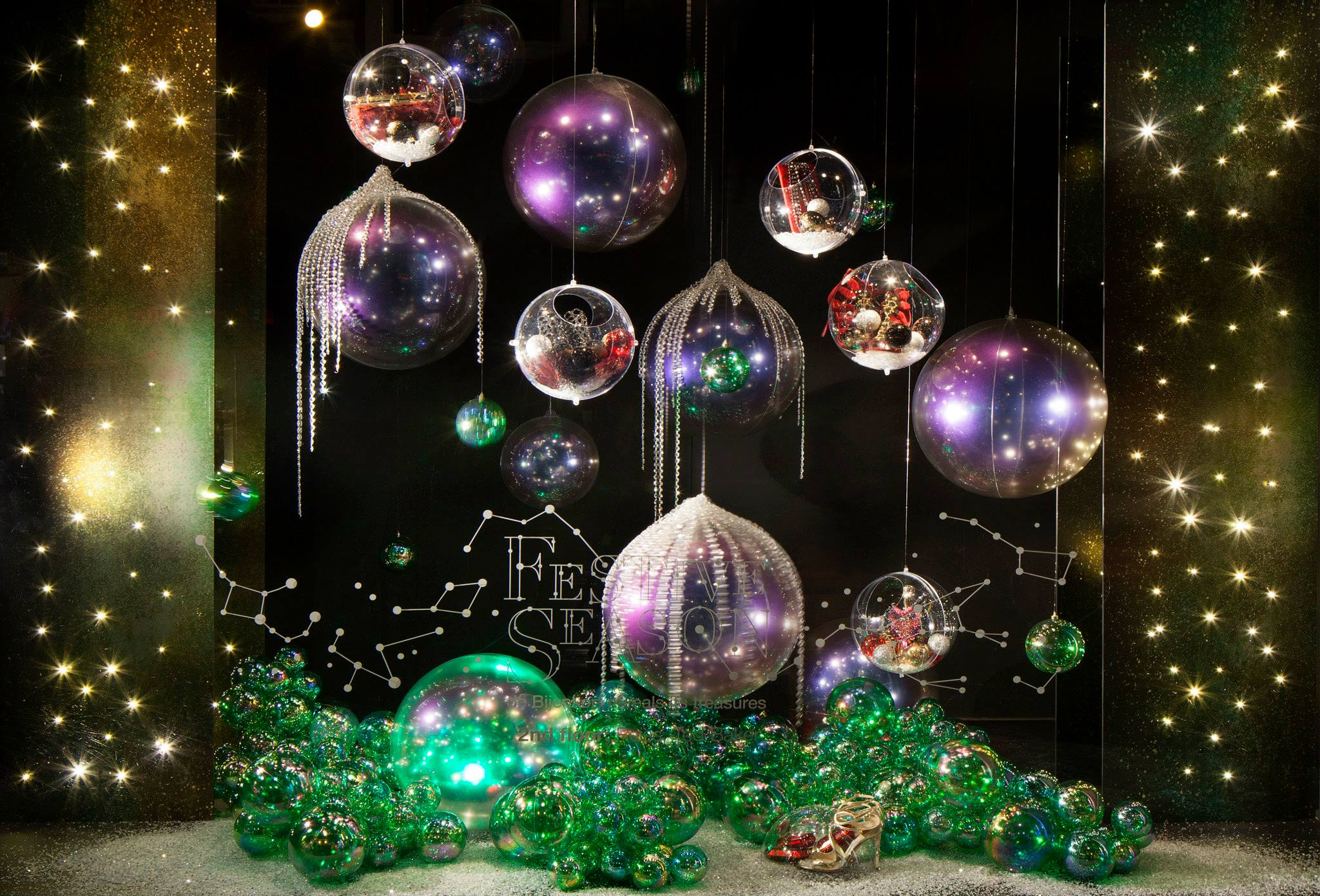de bijenkorf festive season christmas window displays best window displays