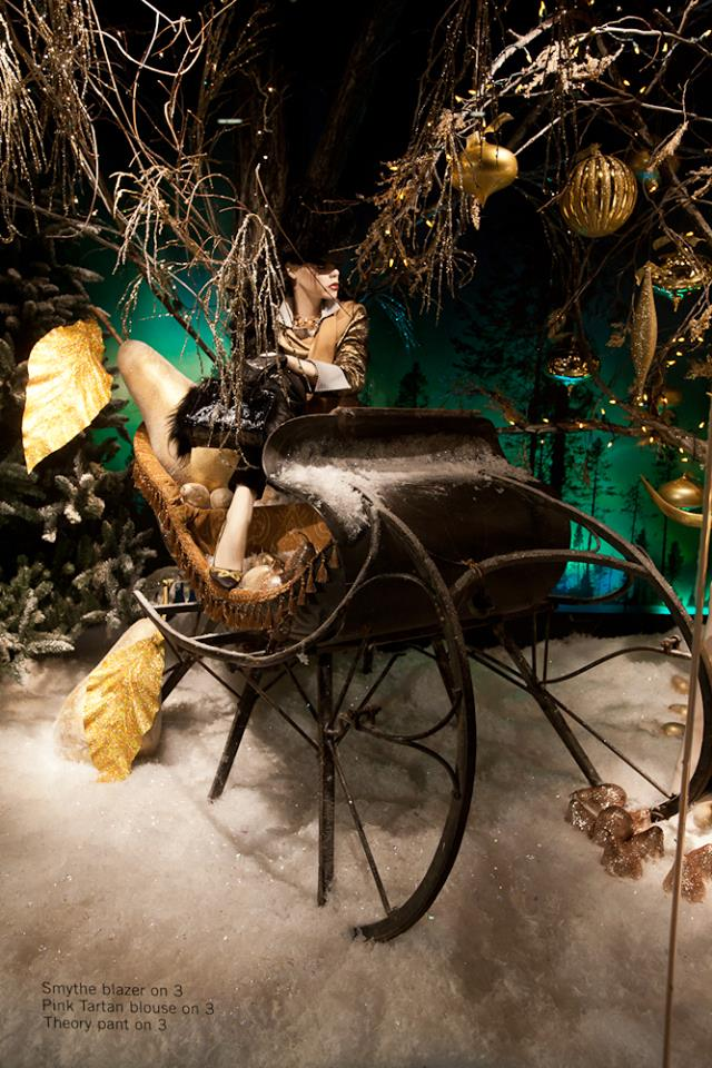 Holt Renfrew 'Nothern Lights' Holiday Window Displays 2014