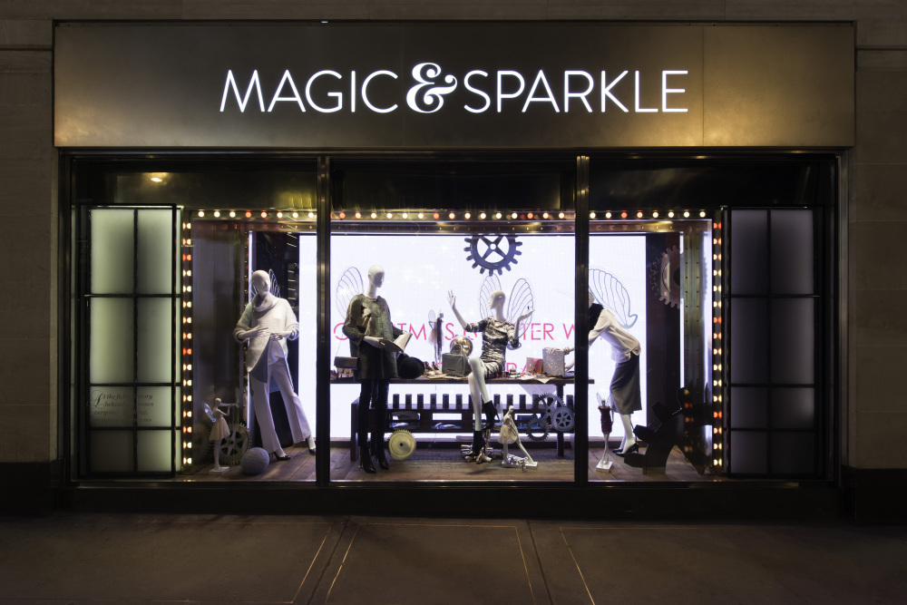 Marks and Spencer 'Magic & Sparkle' Christmas Window Displays