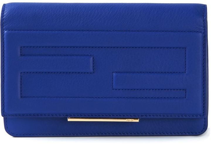 FENDI Blue Large Wallet