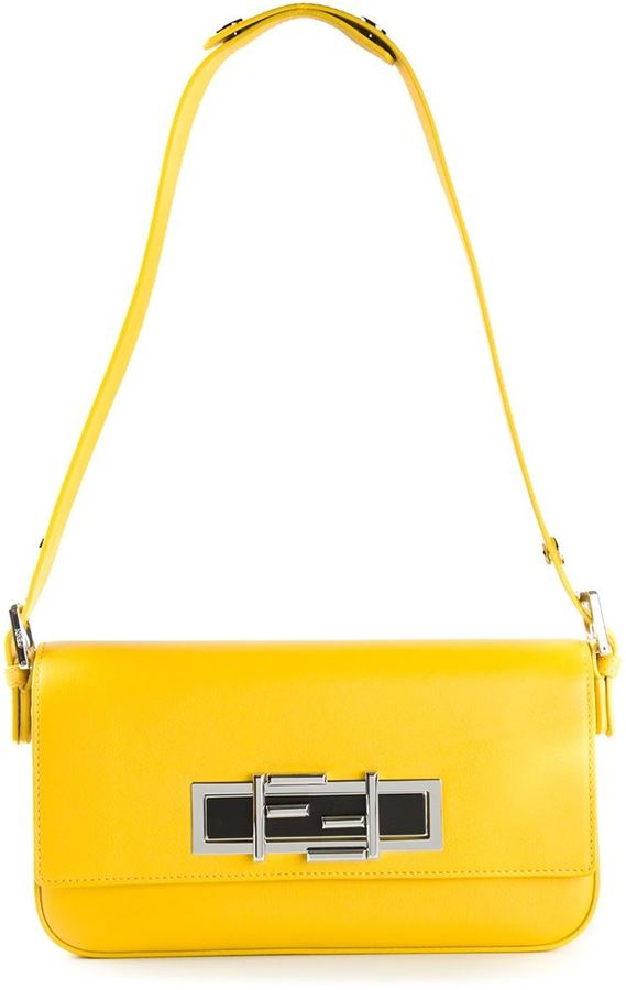 FENDI Yellow 3baguette Shoulder Bag