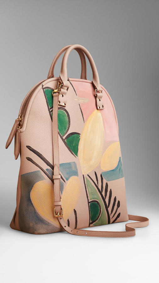 Burberry The Bloomsbury Leather Handpainted Bag