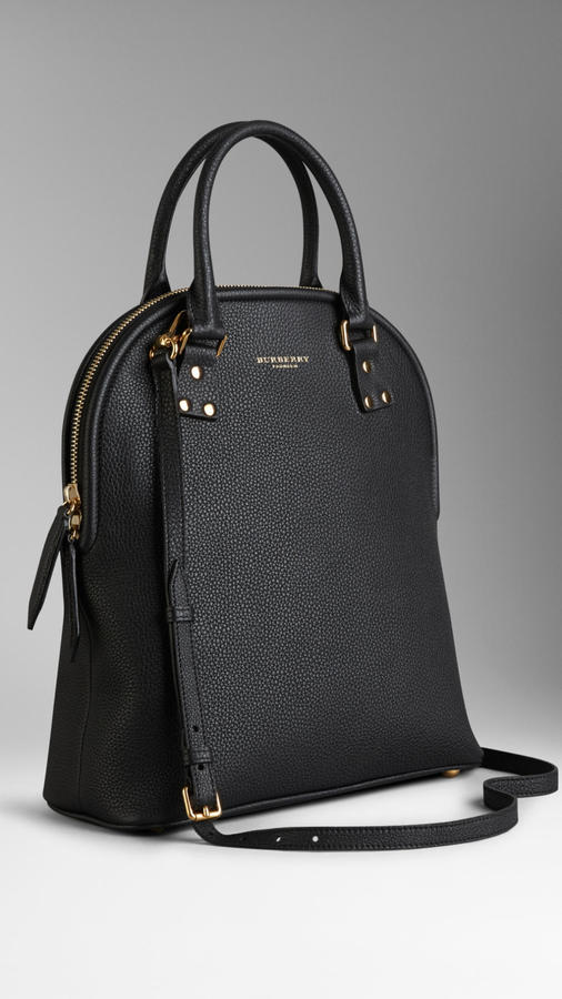 Burberry The Bloomsbury Black Medium Grained Leather Bag