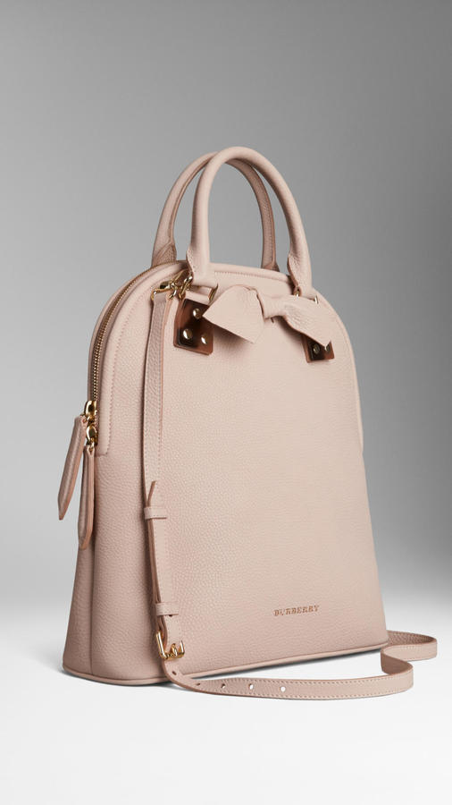 Burberry The Bloomsbury Medium Grained Leather Bag