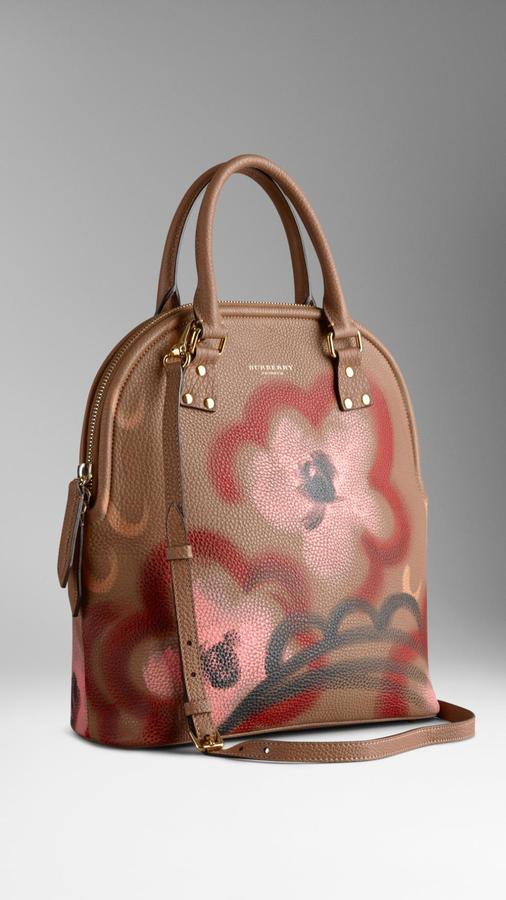 Burberry The Bloomsbury Medium Grained Leather Handpainted Bag