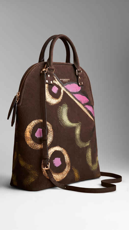 Burberry The Bloomsbury Nubuck Handpainted Bag