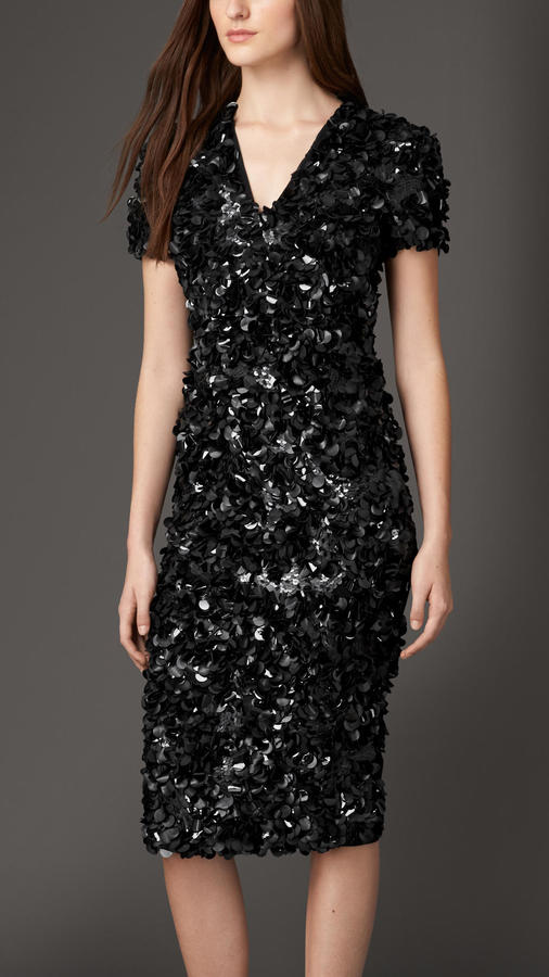 Burberry Black Sequins Dress