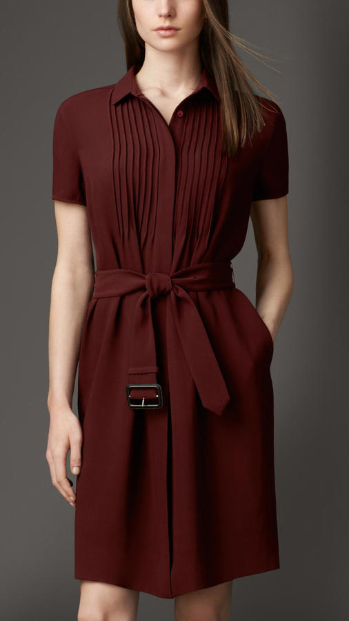 Burberry Silk Georgette Shirt Dress