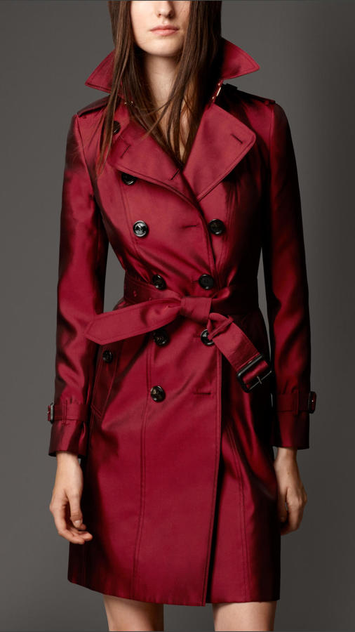 Burberry Silk Mixed Trench Coat