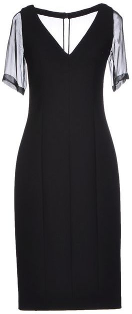 PRADA Black Short Sleeve Length Dress