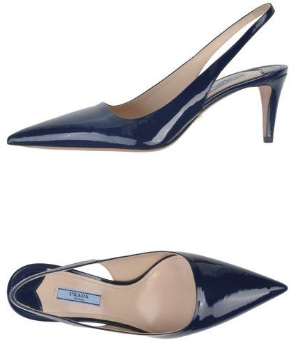 PRADA Blue Shiny Pumps