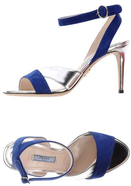 PRADA Blue Silver Stiletto Heels