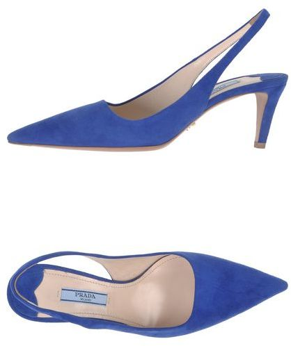 PRADA Blue Suede Pumps