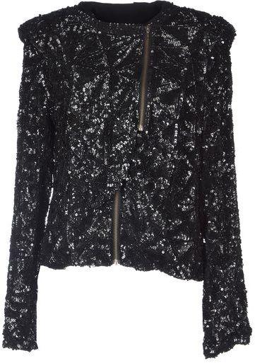 Topshop Black Glitter Jacket
