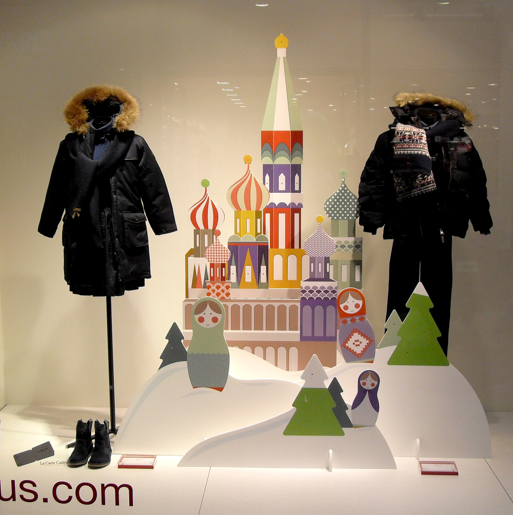 CYRILLUS Christmas Window Display by TOMISH design