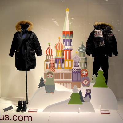 CYRILLUS Christmas Window Display 2014 by TOMISH design