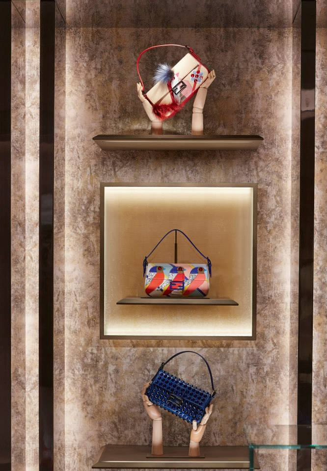 FENDI Paper Plane Invasion Window Display at Harrods