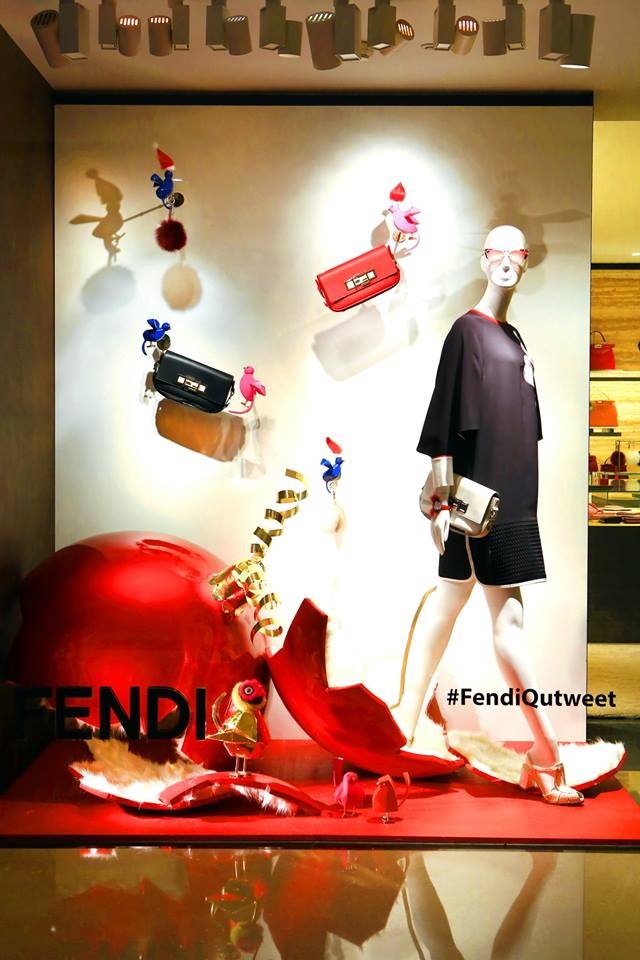 FENDI 'QuTweet' Holiday Window Displays 2014