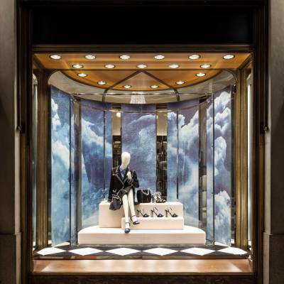'PRADA in the Skies' Holiday Window Displays 2014