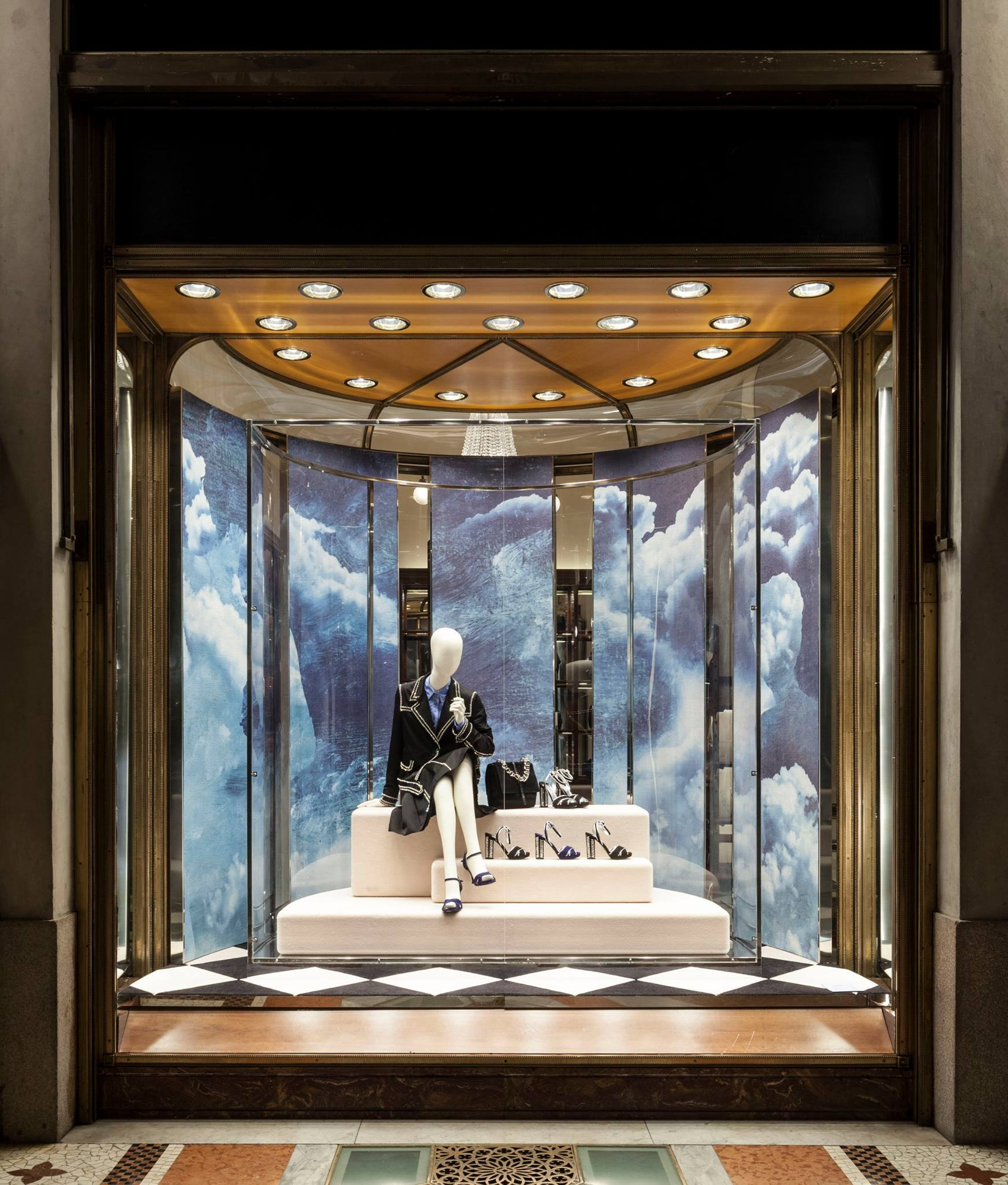 39 prada in the skies 39 holiday window displays 2014 best for Winter creative interior design
