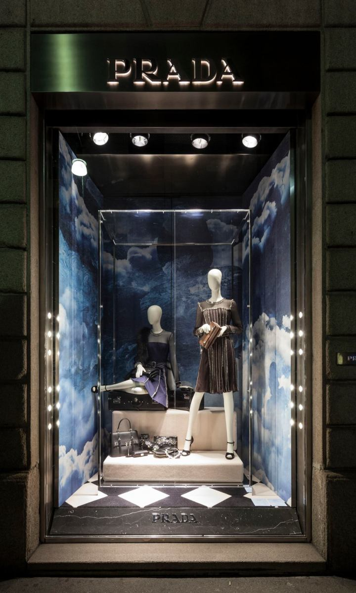 'PRADA in the Skies' Holiday Window Display 2014